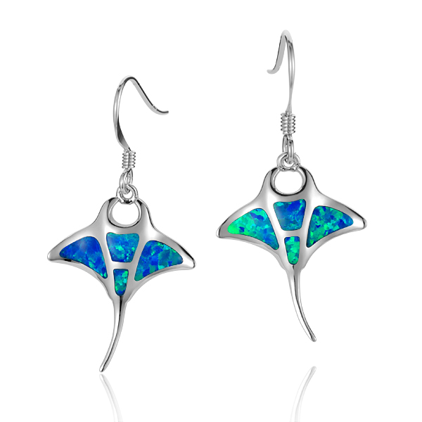 Sterling Silver Stingray Hook Earrings